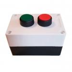 Кнопочный блок управления двухсекционным светофором.